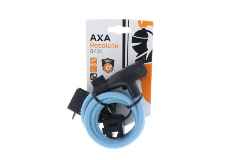 AXA Kabelslot Resolute | 120/8 | Ice Blue