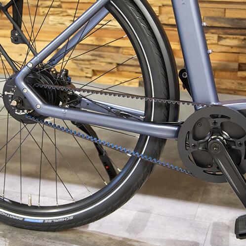 E-bikes met riemaandrijving