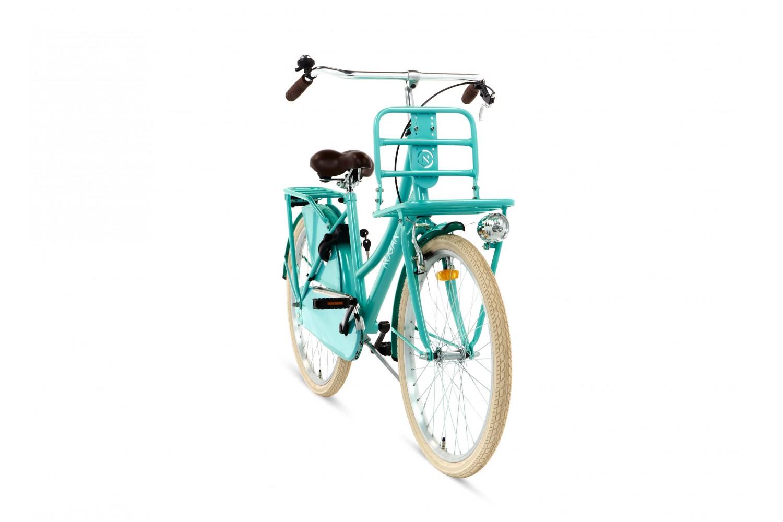 Nogan Vintage Transportfiets 24 inch Meisjes Aqua Blauw
