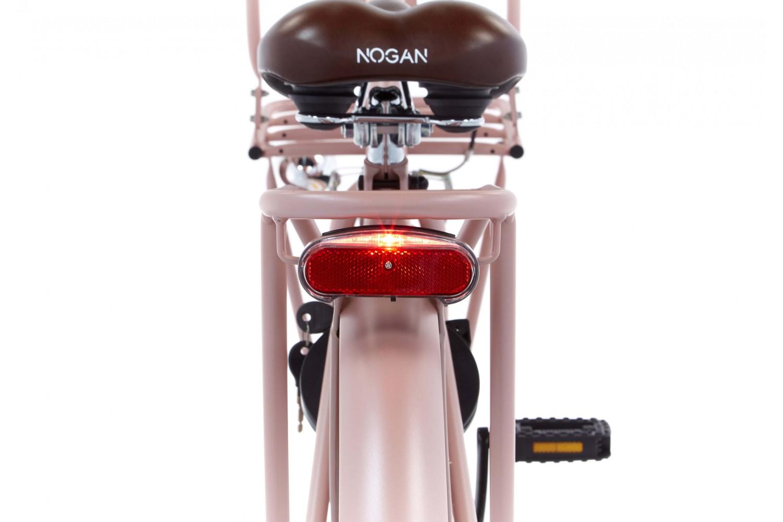 Nogan Vintage Transportfiets 22 inch Meisjes Mat Roze