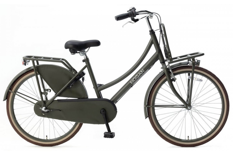 Nogan Vintage N3 Transportfiets 24 inch Meisjes Leger Groen