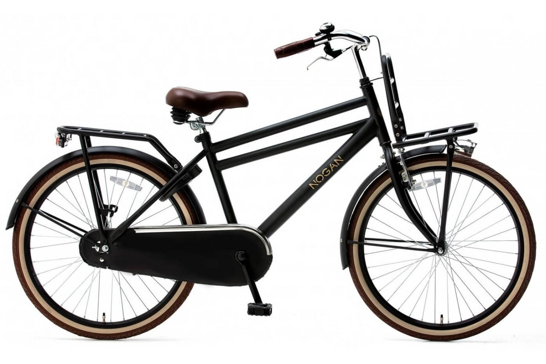 Nogan Vintage Transportfiets 24 inch Jongens Mat Zwart