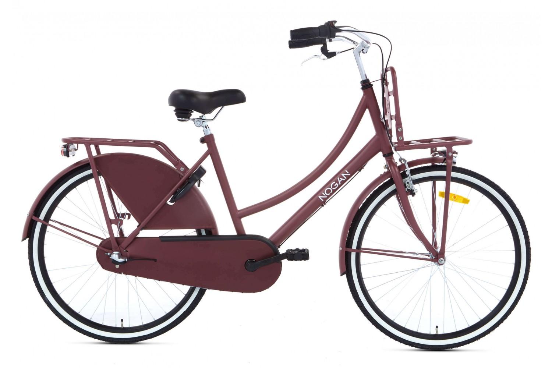 Nogan Vintage N3 Transportfiets 26 inch Meisjes Mat Rood