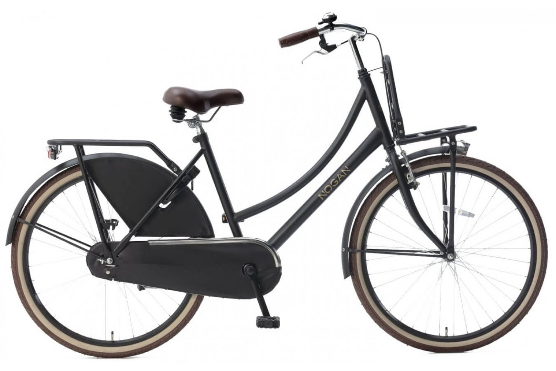 Nogan Vintage Transportfiets 26 inch Meisjes Mat Zwart