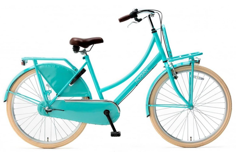 Nogan Vintage N3 Transportfiets 26 inch Meisjes Aqua Blauw