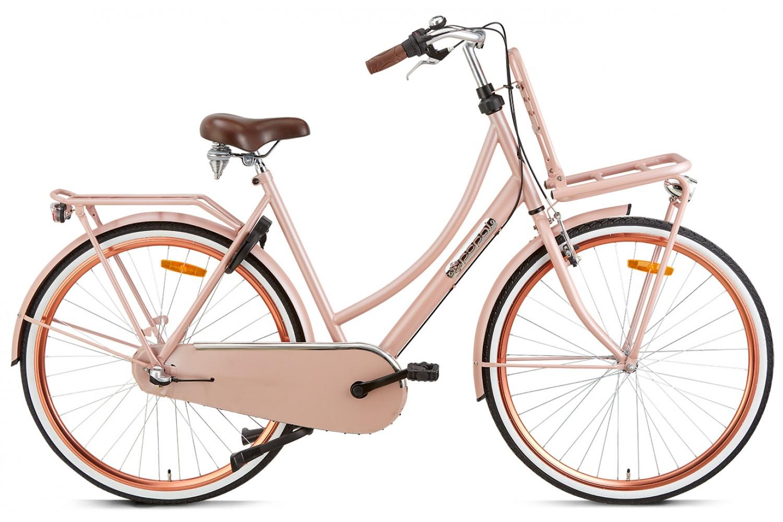 Popal Daily Dutch Basic+ Transportfiets 28 inch Dames 50cm Zalm Roze