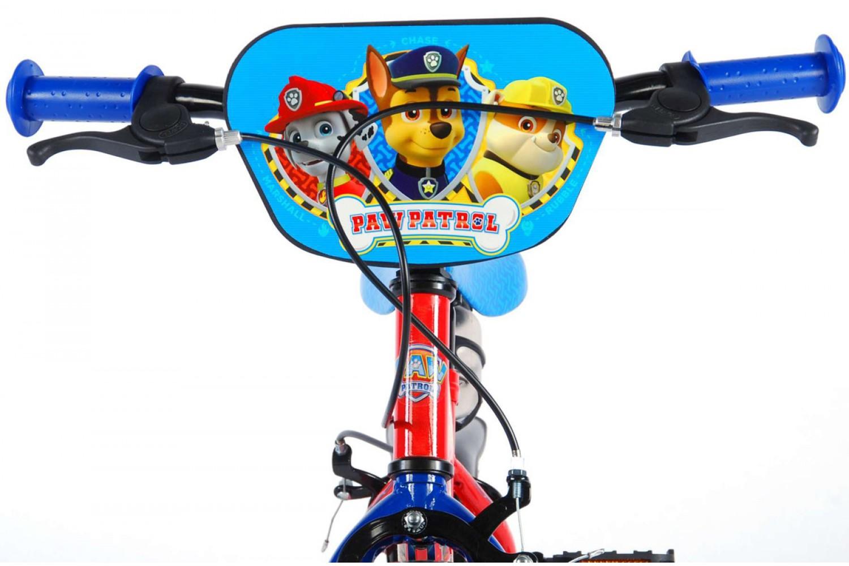Paw Patrol Kinderfiets 12 inch Jongens Rood Blauw   2 handremmen