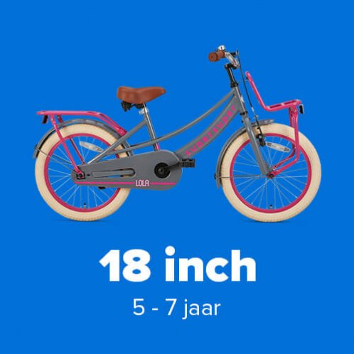 Meisjesfietsen 18 inch